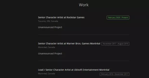 CV empleado Rockstar