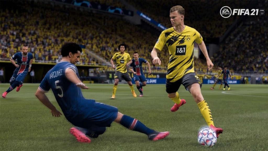 Erling Haaland del Dortmund en FIFA 21
