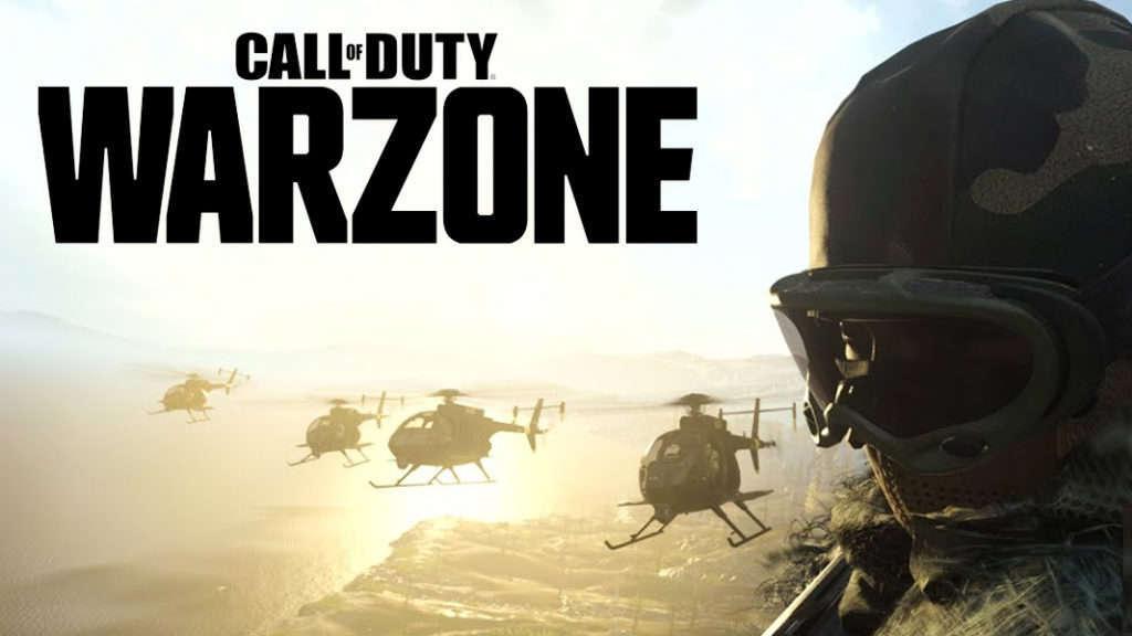 Helicópteros con el logo de Call of Duty Warzone