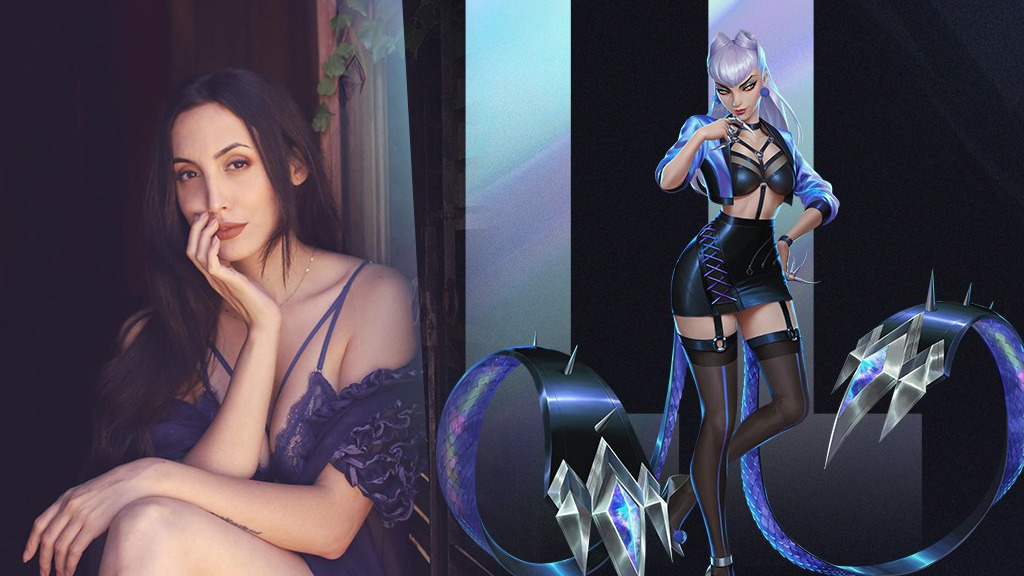K/DA Evelynn con All Out costume next to Glory Lamothe