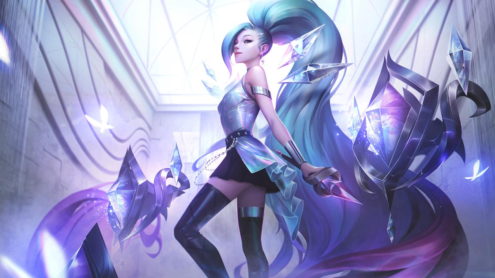 Seraphine con su skin KDA en League of Legends