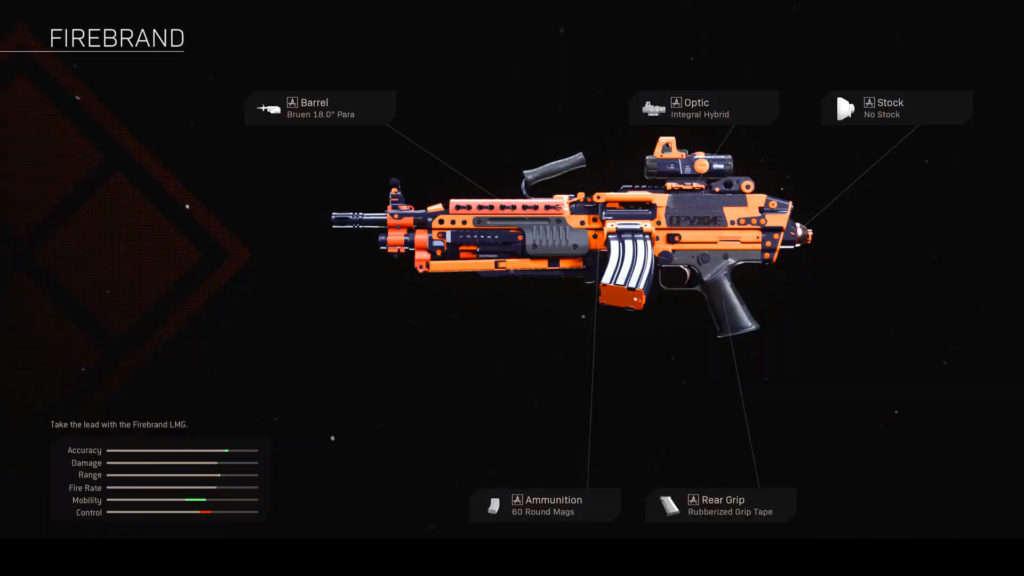 Bruen Mk9 Firebrand blueprint de Warzone