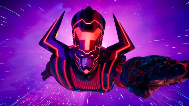 Galactus en el mapa de Fortnite