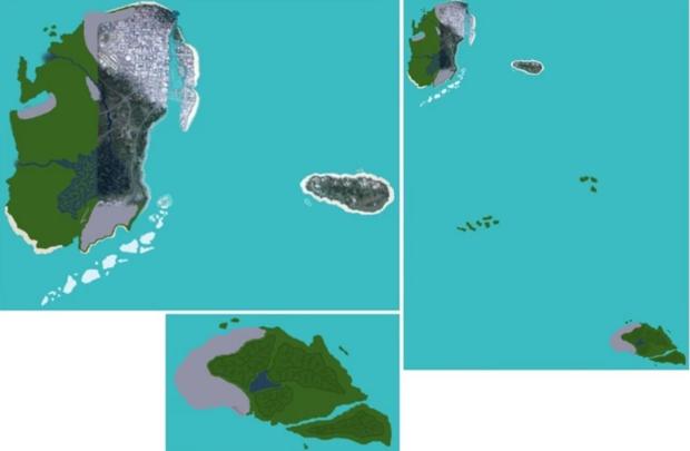 Posible mapa filtrado de GTA 6