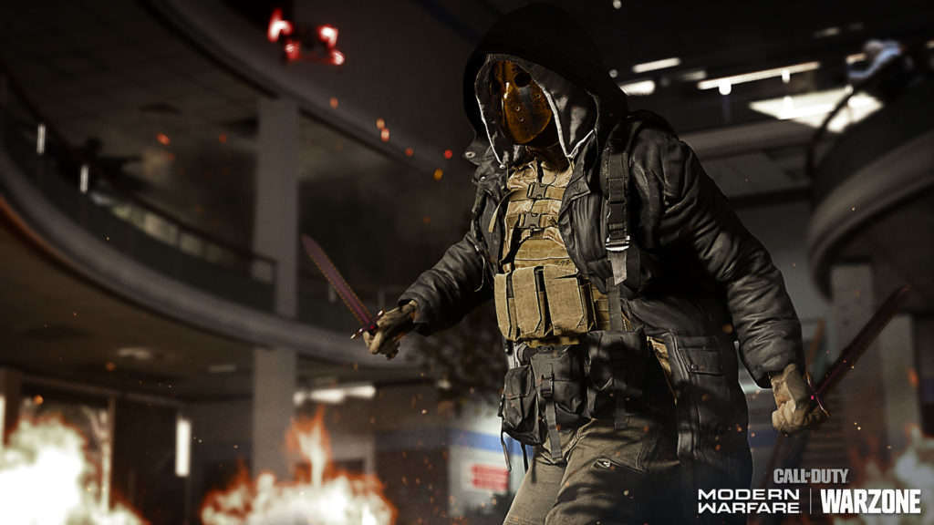 Máscara horror Modern Warfare y Warzone