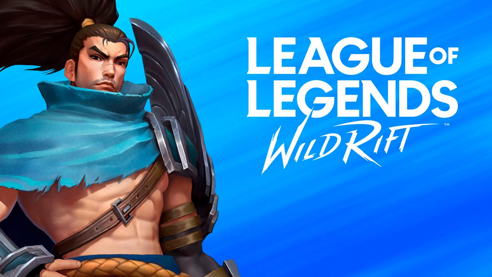 Yasuo con el logo de League of Legends: Wild Rift