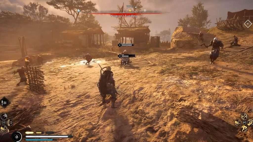 Eivor peleando en Assassin's Creed Valhalla