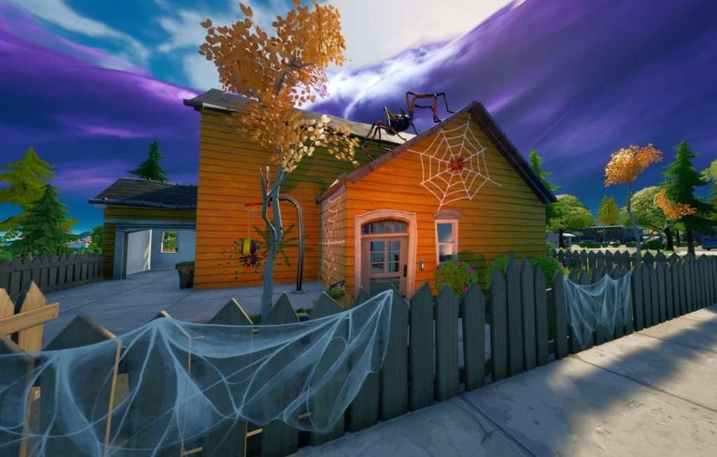 Casa decorada de Halloween en Fortnite