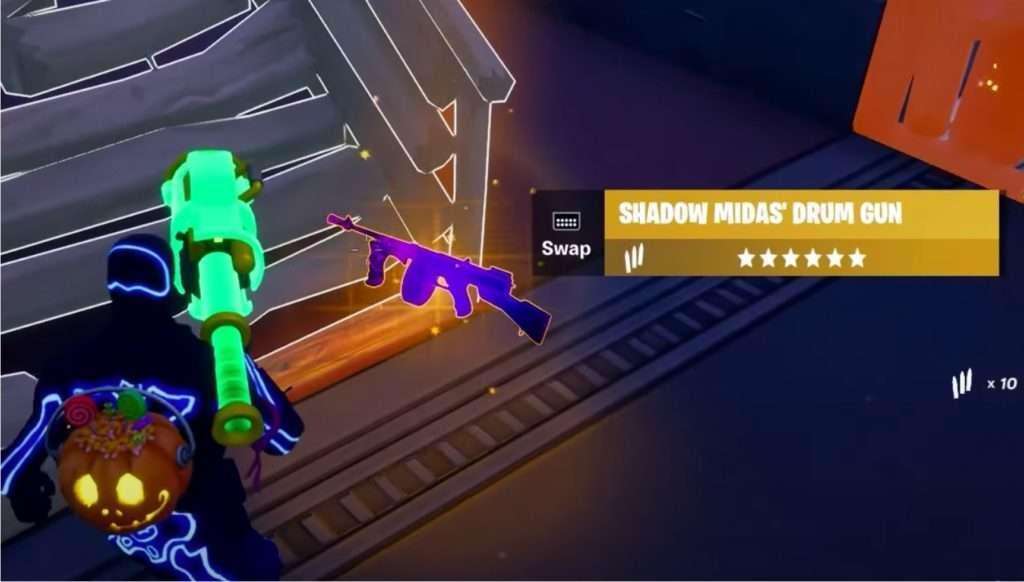 Pistola mítica shadow midas fortnitemares