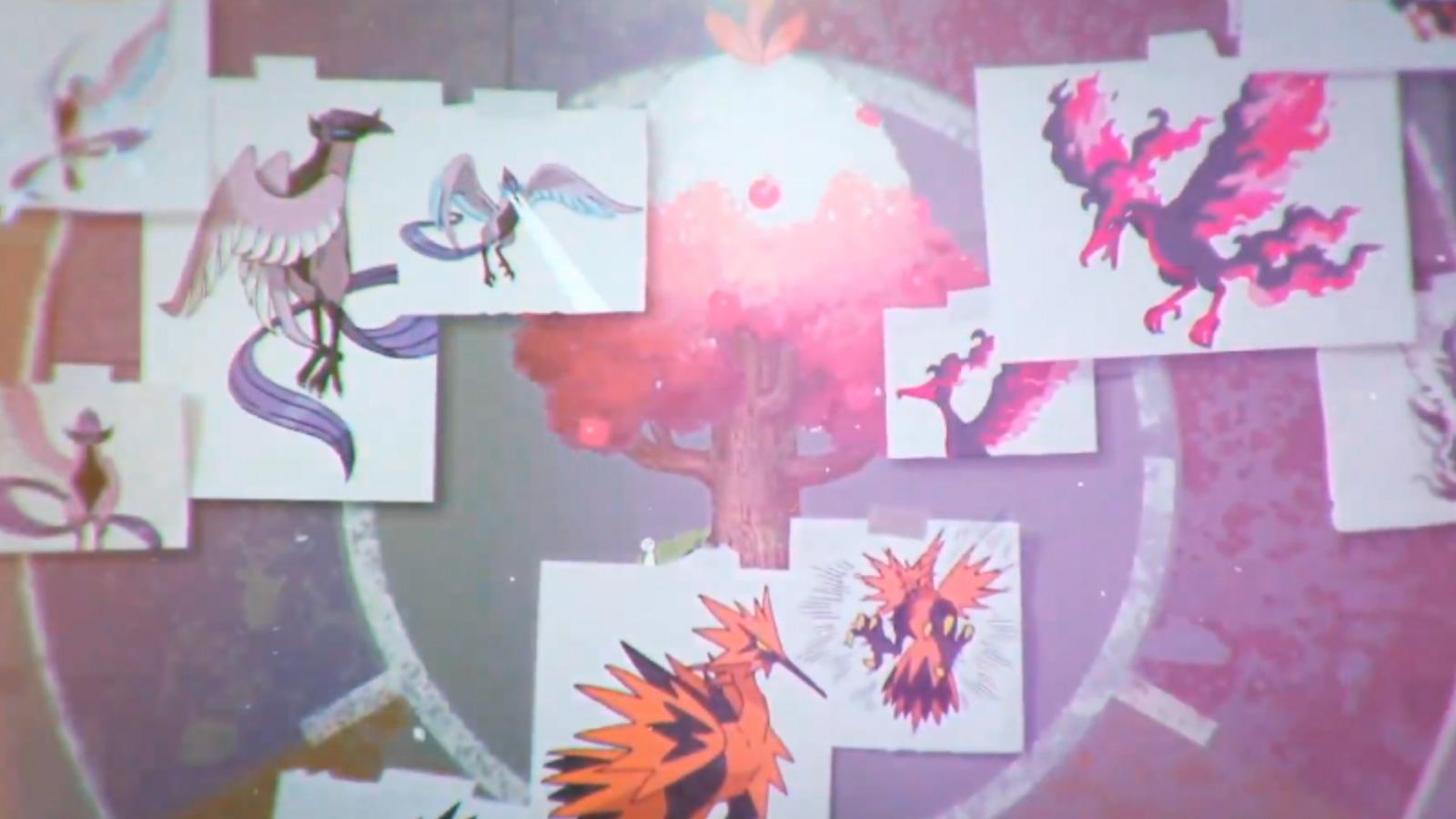 Pájaros legendarios Pokémon Las Nieves de la Corona