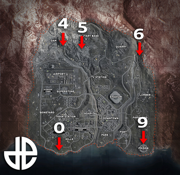 mapa búnkeres warzone verdansk