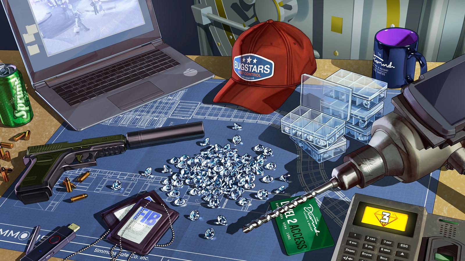 Diamantes robo casino GTA Online