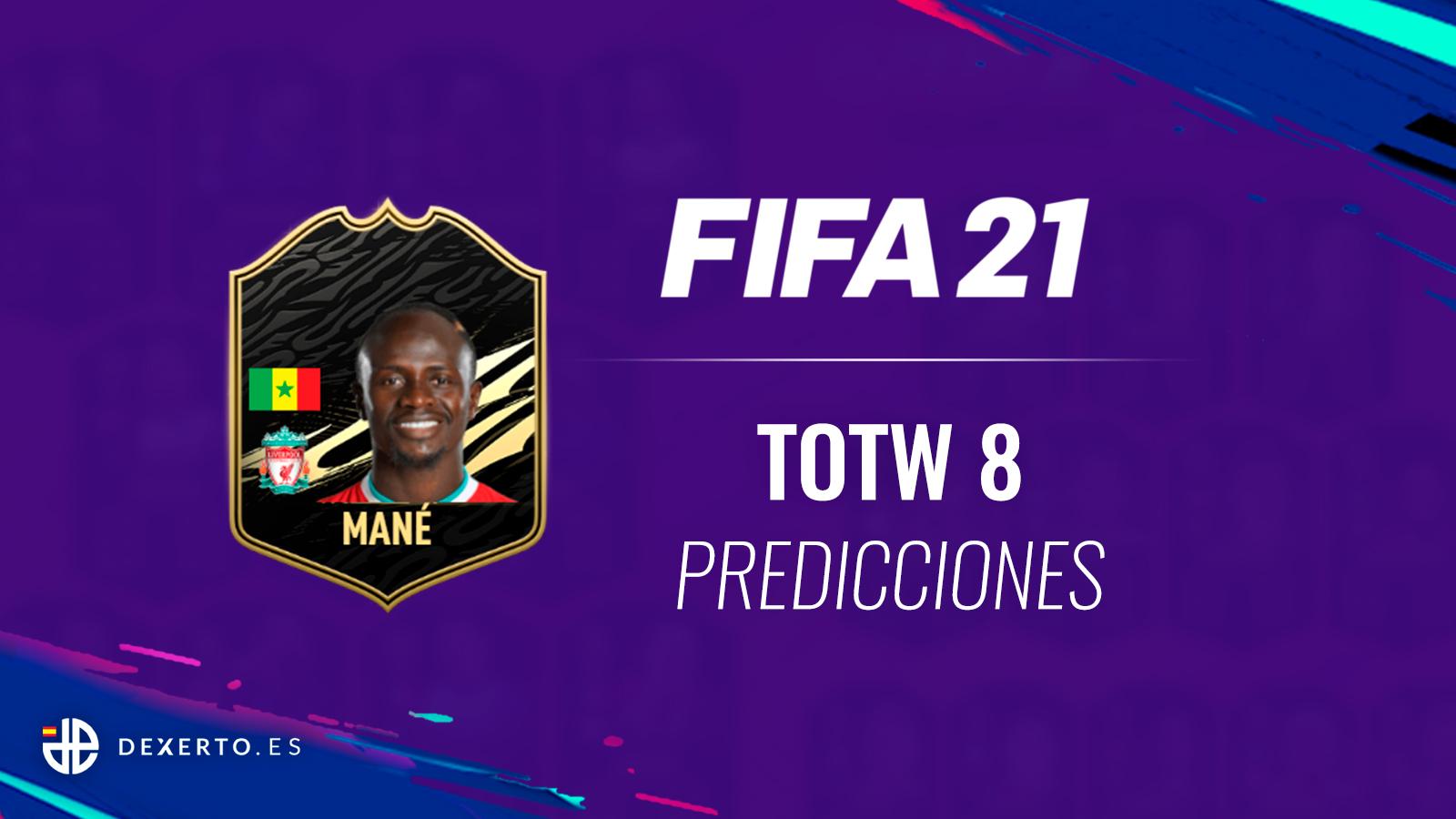 Mane con el logo de FIFA 21