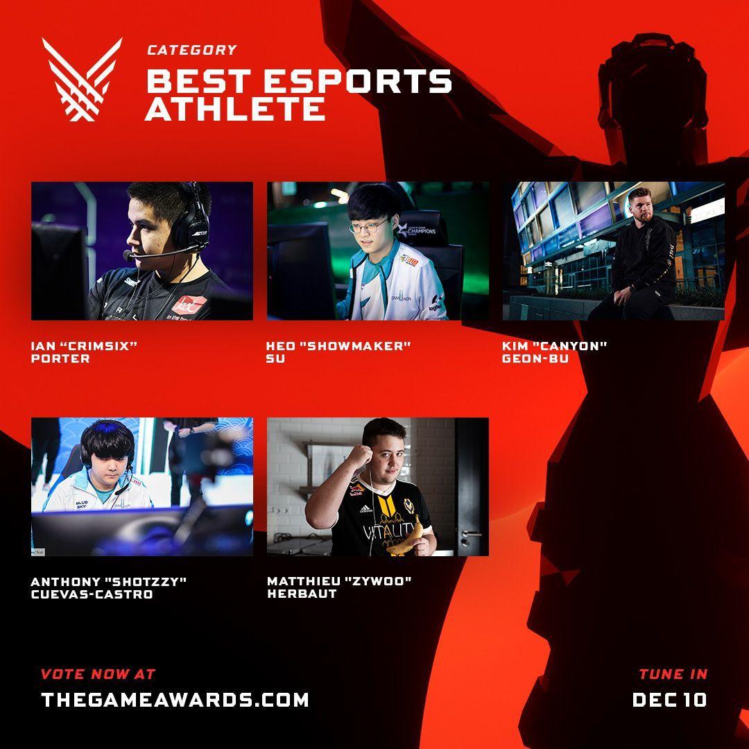 PRofesional esports game awards