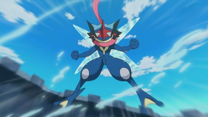 Greninja en el anime Pokémon