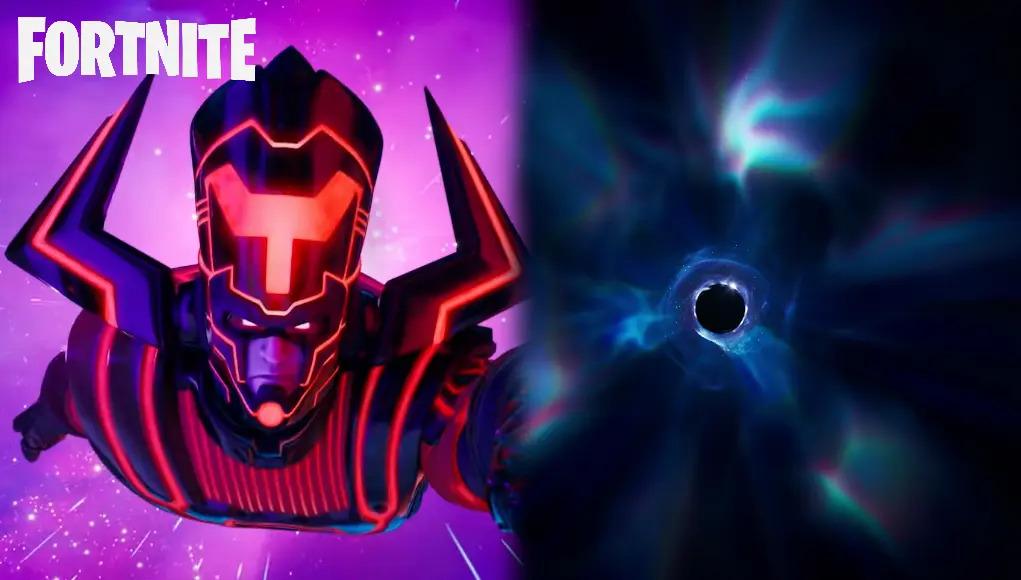 Galactus y el agujero negro de fortnite