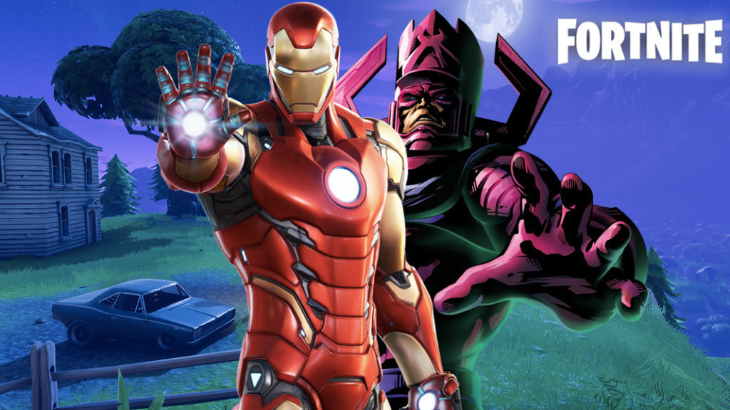 Galactus y Iron Man en Fortnite