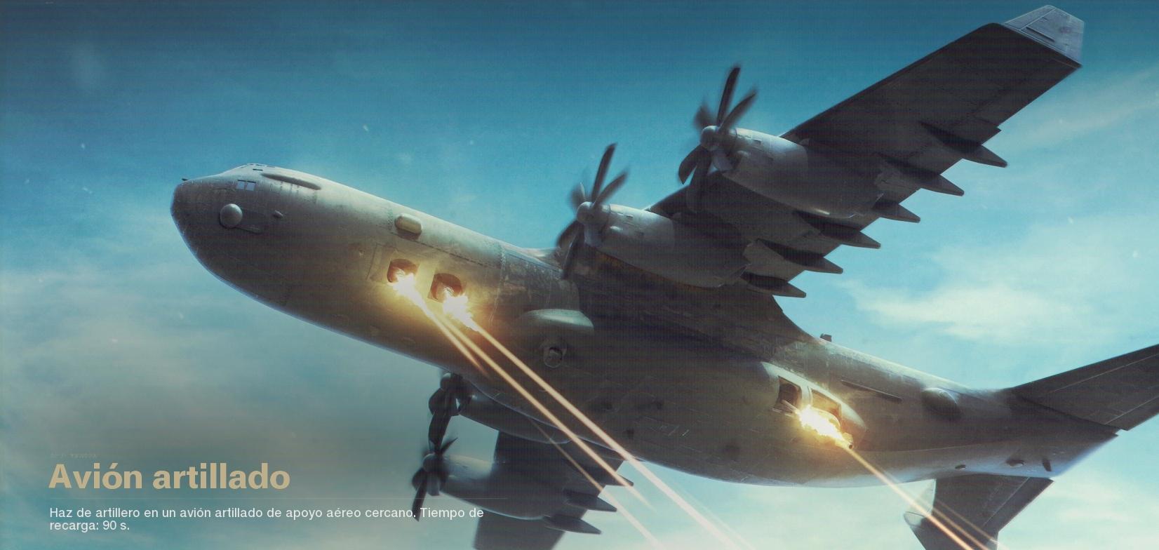 Avión artillado black ops cold war