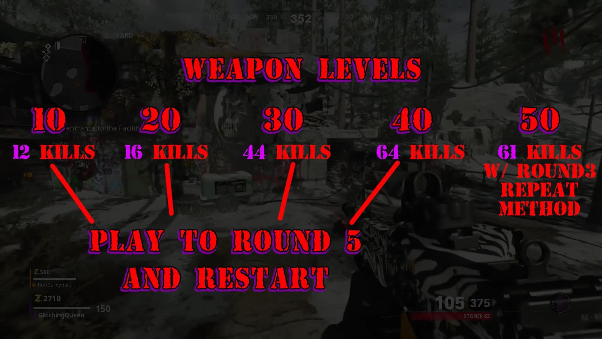 Experiencia armas Zombies Black Ops Cold War