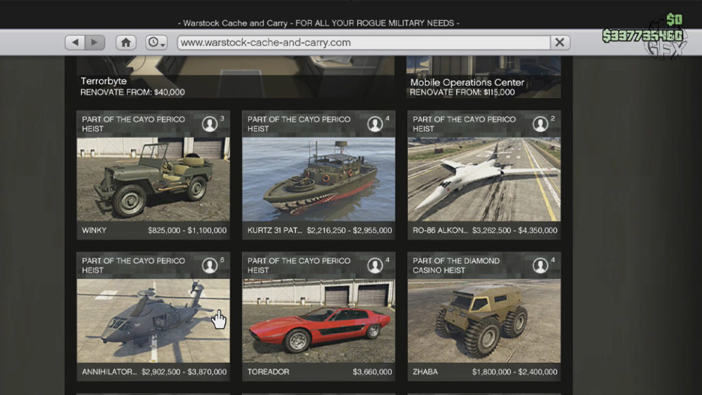 Warstock Cache and Carry GTA Online