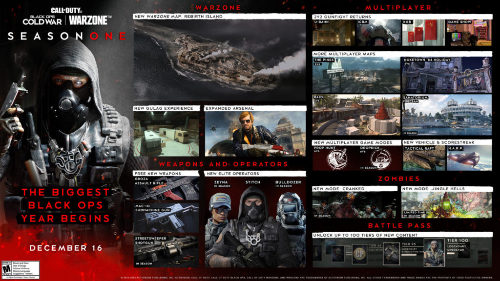 Novedades de Black Ops Cold War temporada 1