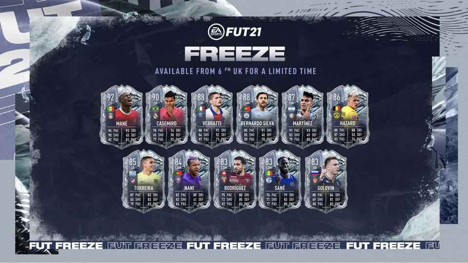 Cartas FIFA 21 Freeze