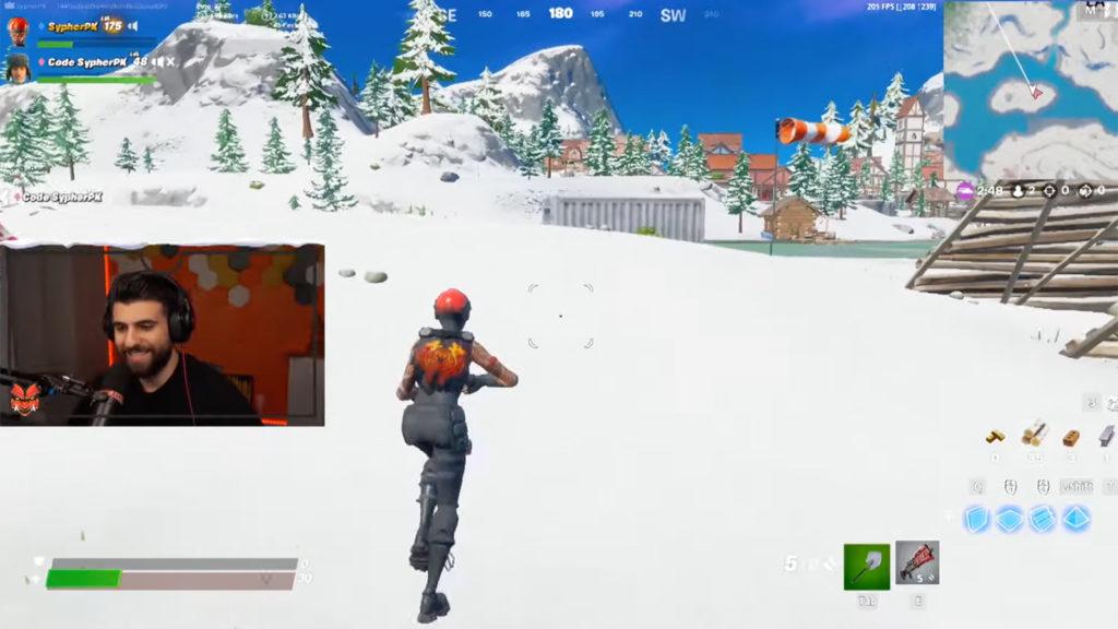 SypherPK jugando Fortnite nieve