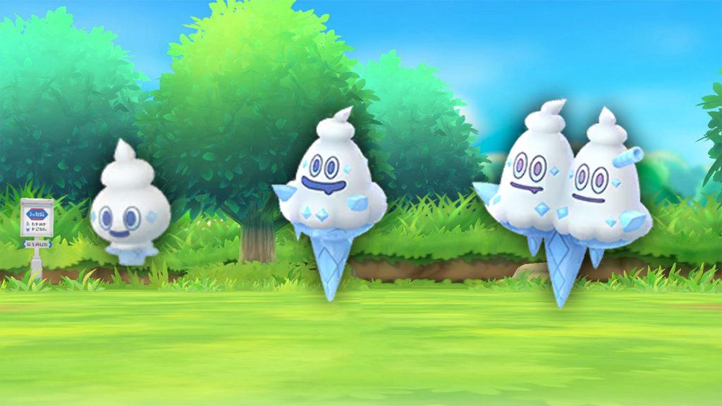 Linea evolutiva de Vanillite en Pokémon Go