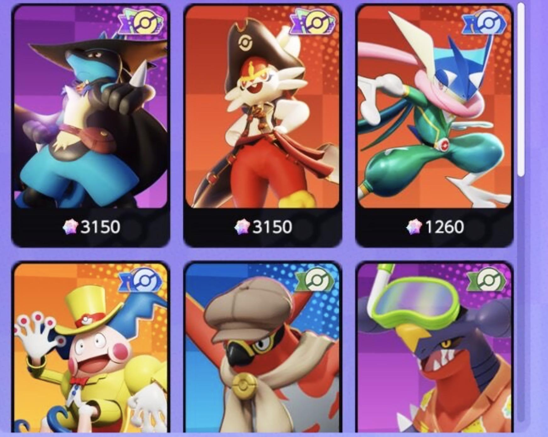 Skins Pokémon Unite