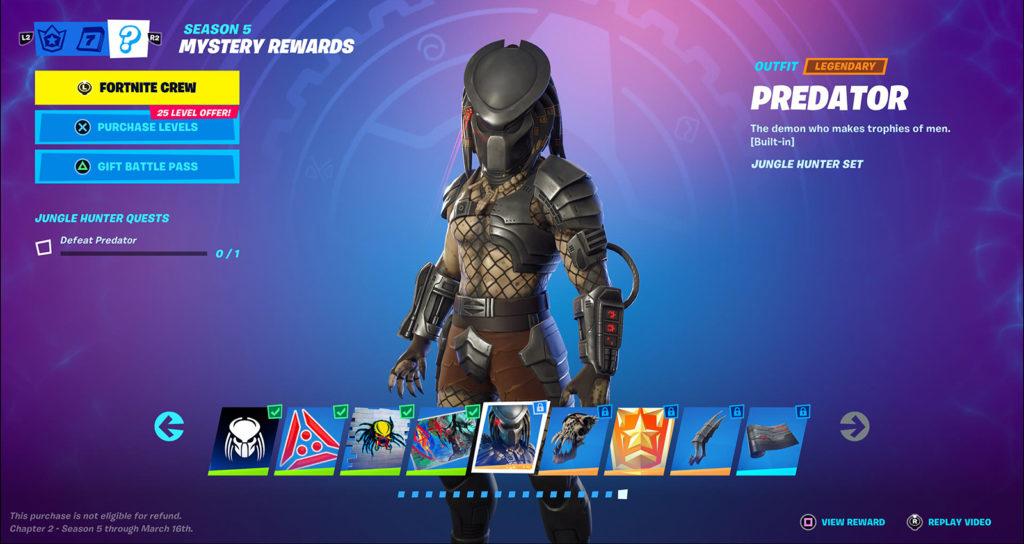 Skin de Predator Fortnite