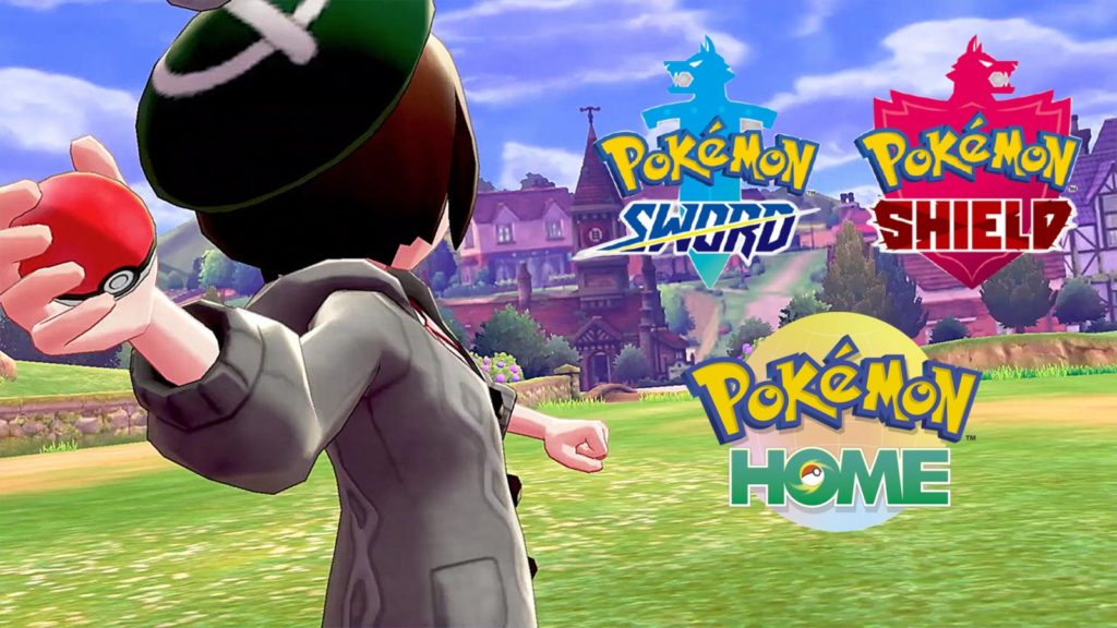 Logos de Pokémon Espada y Escudo y Home