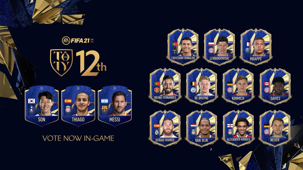 Nominados FIFA 21 TOTY jugador 12