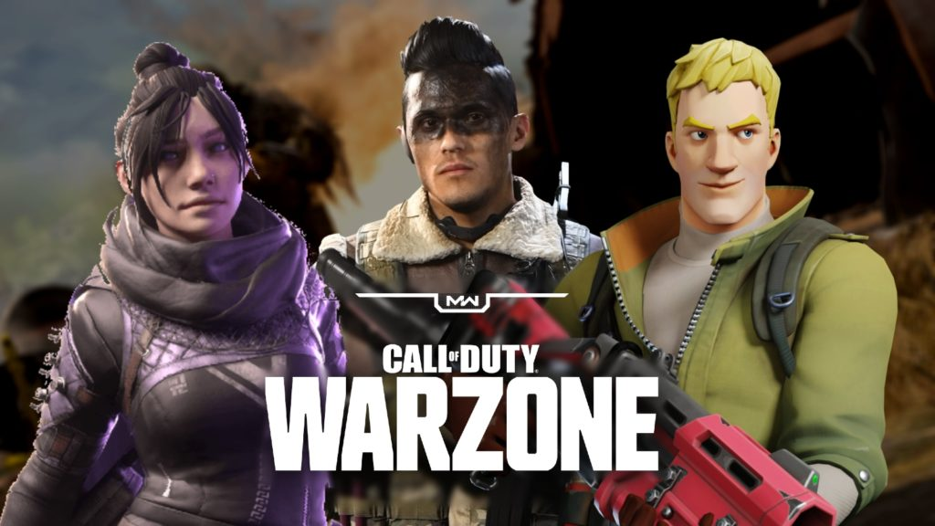 Personajes de Warzone Fortnite y Apex Legends