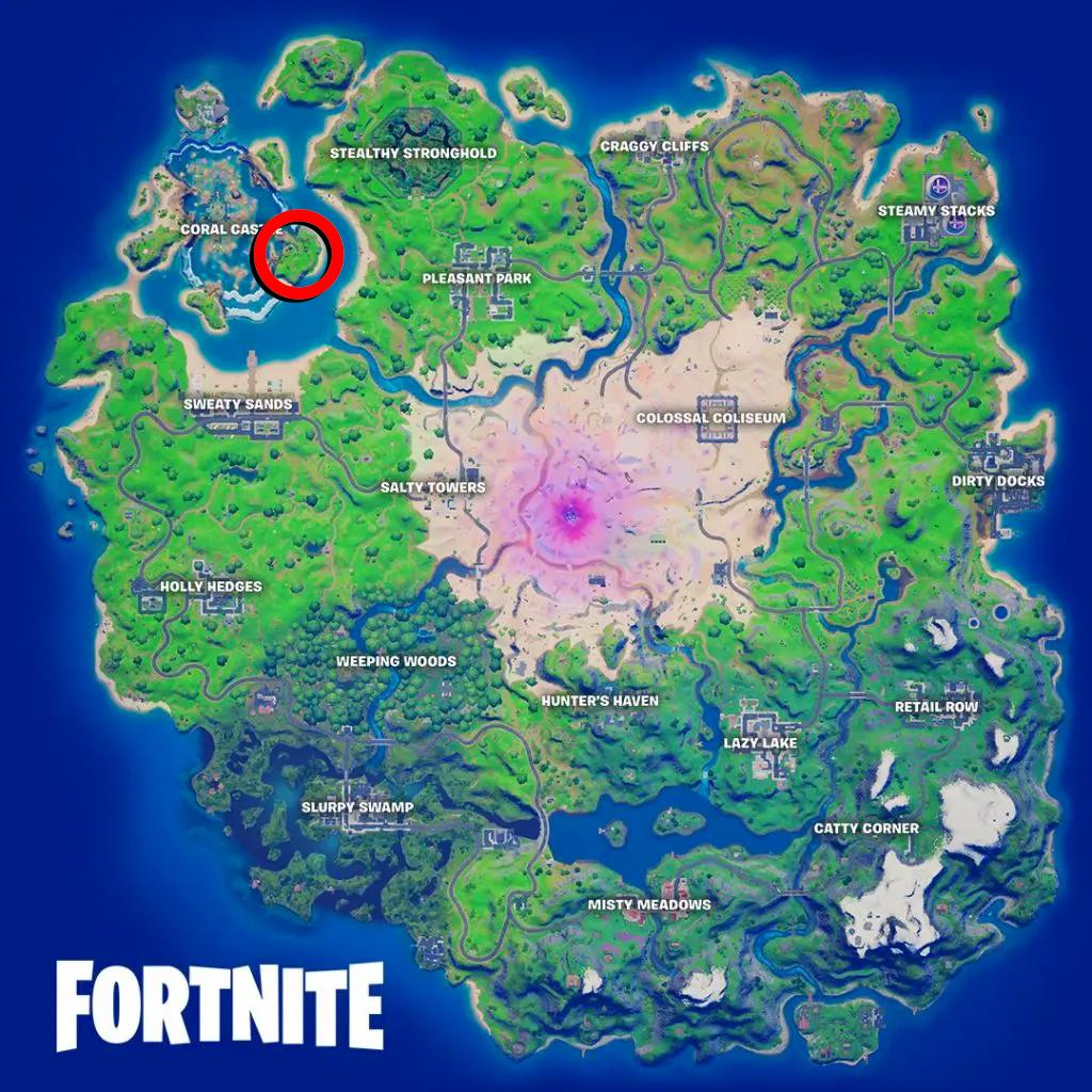 Mapa localización avión fortnite