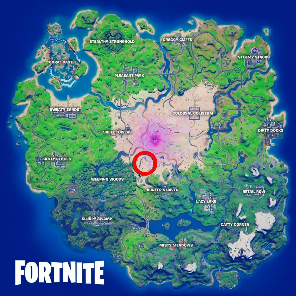 Mapa Fortnite Cantina
