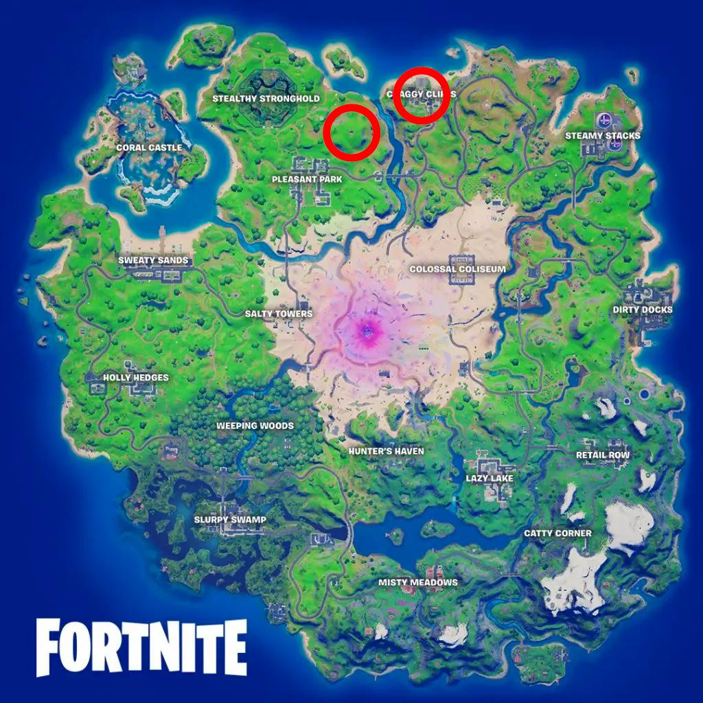 Localización de Chug Cannon (Slurp Bazooka) en Fortnite