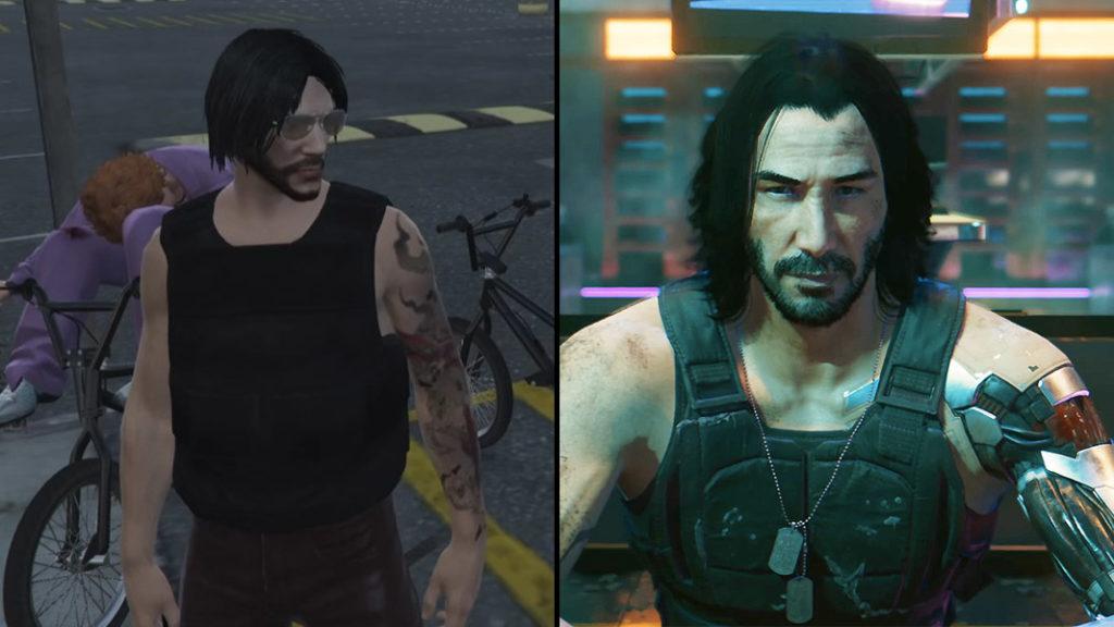 Johnny Silverhand en GTA RP y Cyberpunk