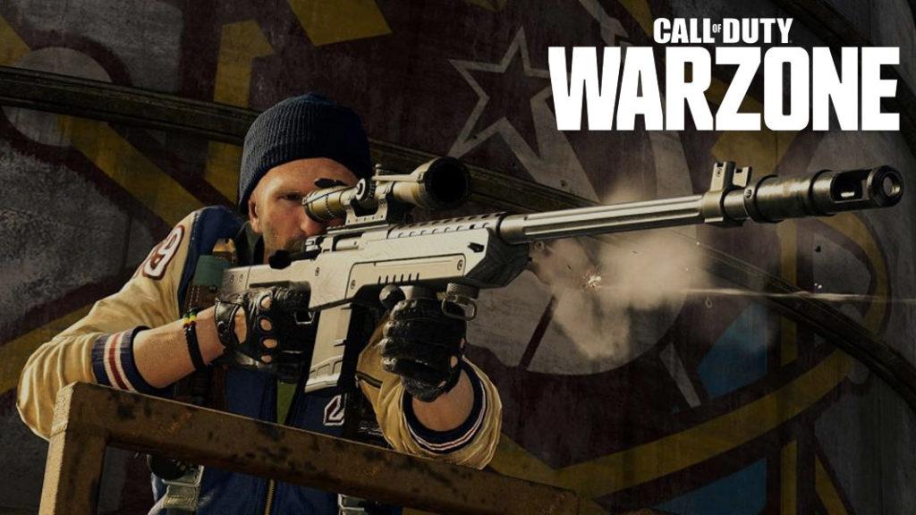 Operador de Warzone con francotirador
