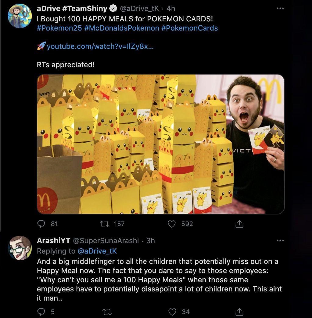 Youtuber comprando Happy Meals