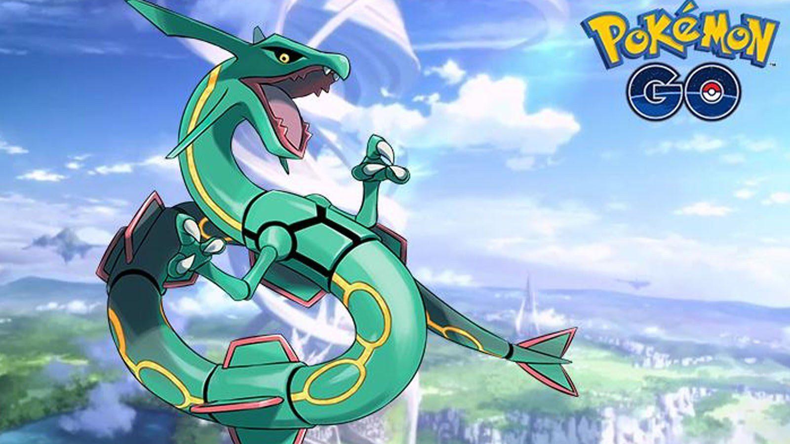 Rayquaza en Pokémon Go.