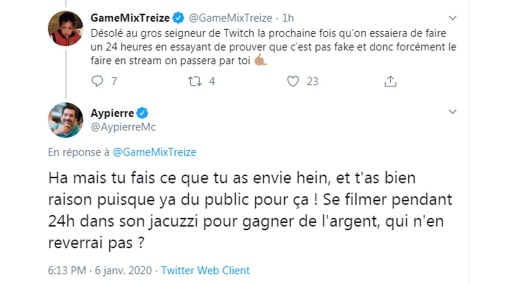 Aypierre, Twitter