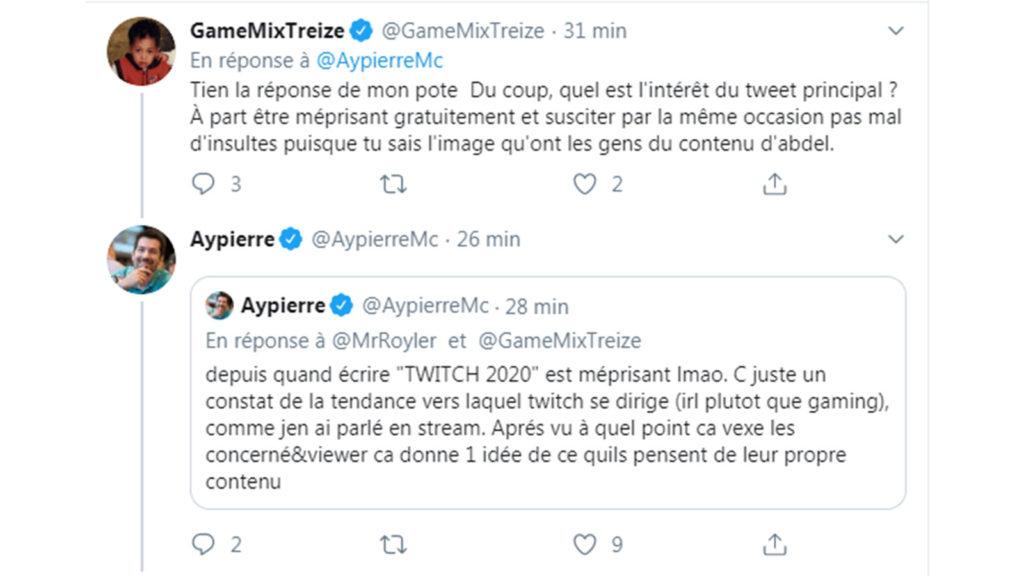 Twitter : GameMixTreize, Aypierre
