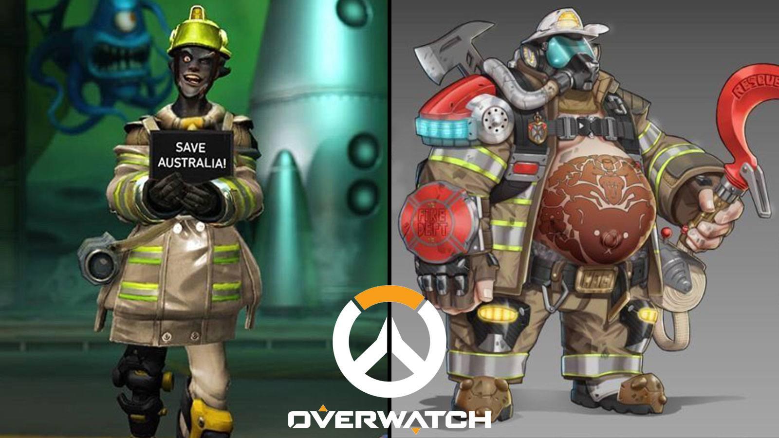 Deux propositions de skins (Chacal et Chopper) pompier pour soutenir la lutte contre les incendies en Australie
