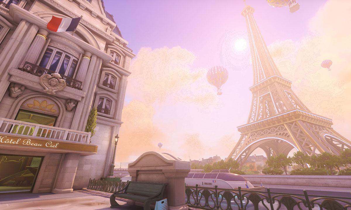 Aperçu de la carte Paris dans Overwatch