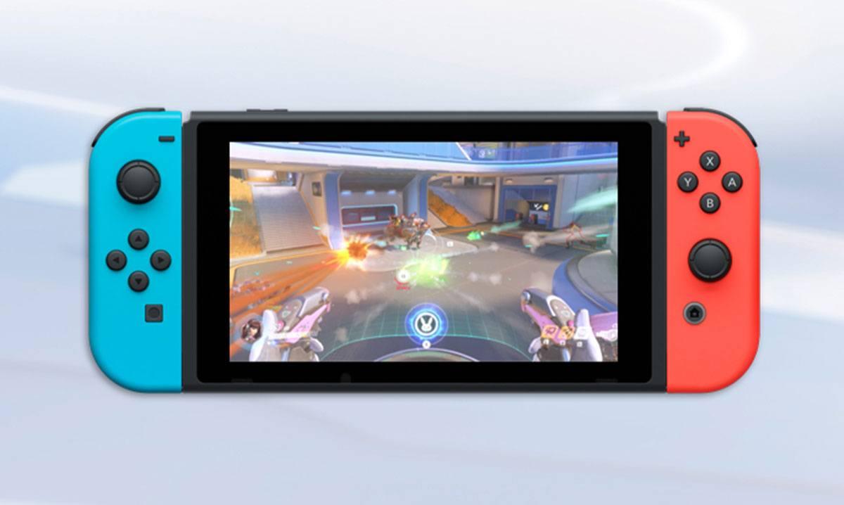Nintendo Switch avec Overwatch de lancé