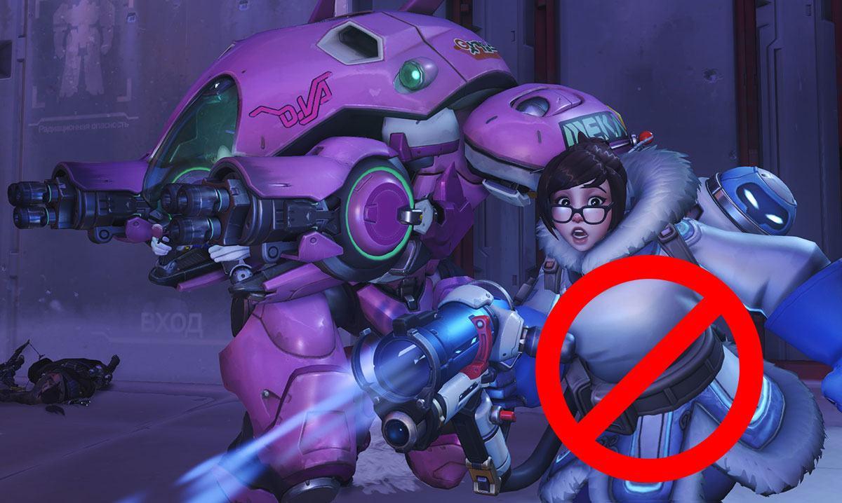 Mei se fait bannir dans Overwatch