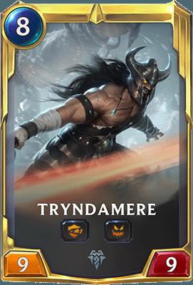 Le champion Tryndamere dans Legends of Runeterra