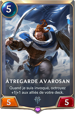 La carte Atregarde Avarosan dans LoR