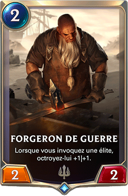 La carte Forgeron de guerre dans LoR