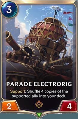 La carte Parade Electrorig dans LoR